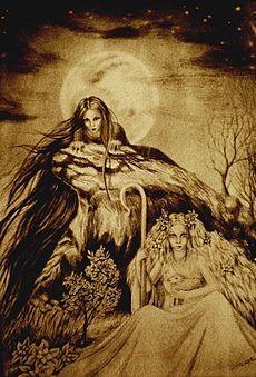 Morana in Vesna na sliki Ivane Režek.[70]